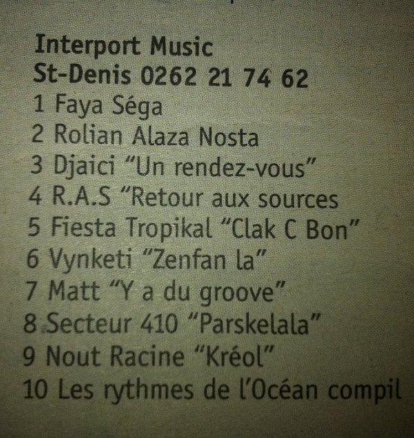 Journal de l'ile 06/02/2011 Album Rolian Alaza Nosta 2eme des Ventes Interport Music..
