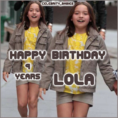 For Lola Grace for his Birthday 16 junio 2010