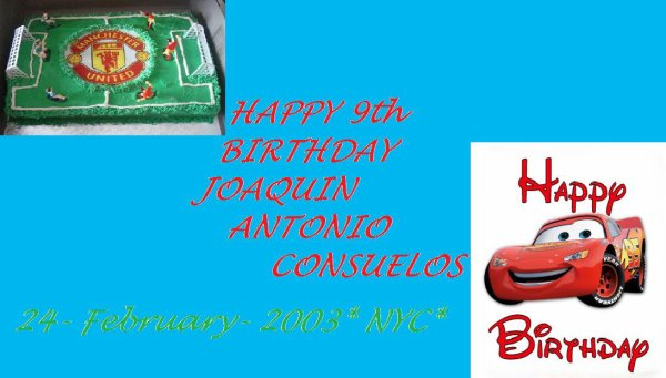 HAPPY 9th BIRTHDAY JOAQUIN ANTONIO CONSUELOS.