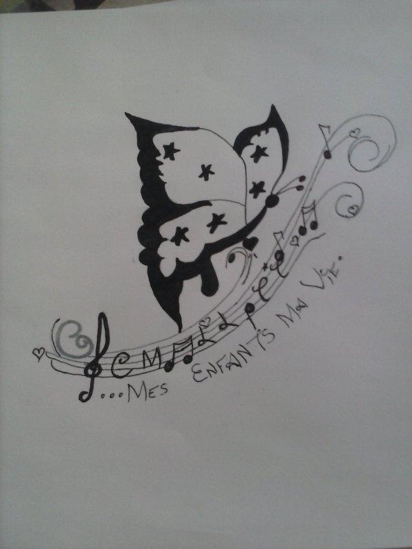 mon futur tatoo .créé par moi même . avec ttes les initiale de mes enfants et la petite étoile que je n aurait pas connue.
