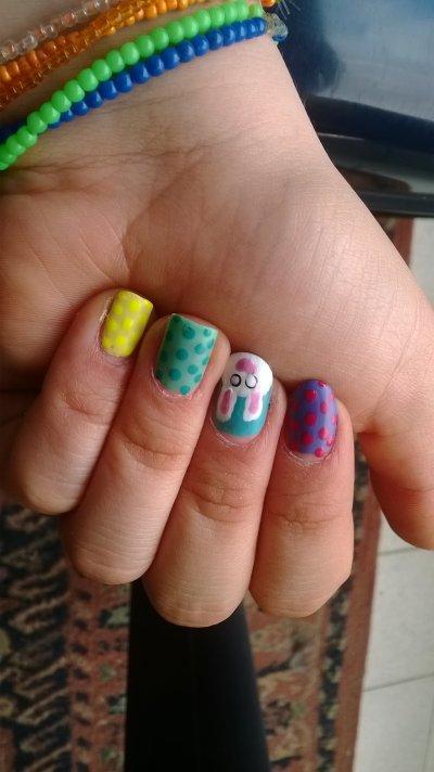 Nail art paque