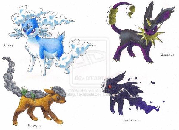 Fake évolution Évoli pokémon