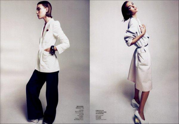 Editorial Spring Blues | Arizona Muse | Vogue China | February 2011 | Shot by Camilla Akrans