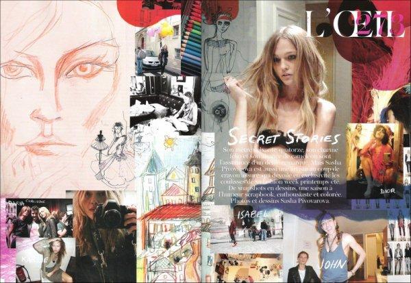 Misc Secret Stories by Sasha Pivovarova | Vogue Paris | February 2011