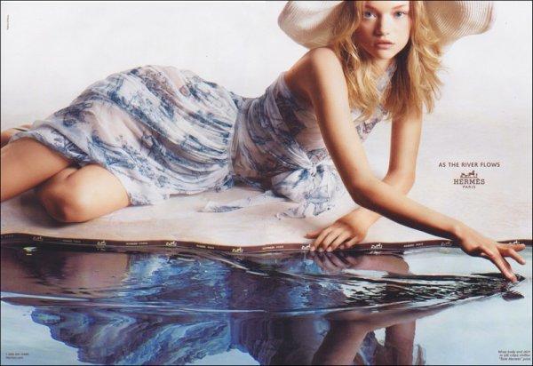 Campaign Gemma Ward for Hermès | Spring/Summer 2005 | Shot by Greg Kadel