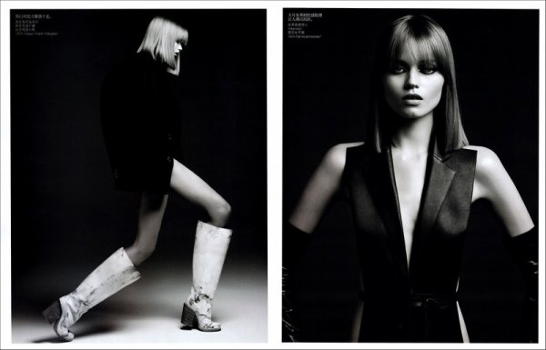 Editorial Skin Deep | Abbey Lee Kershaw | Vogue China | August 2010 | Shot by Hedi Slimane