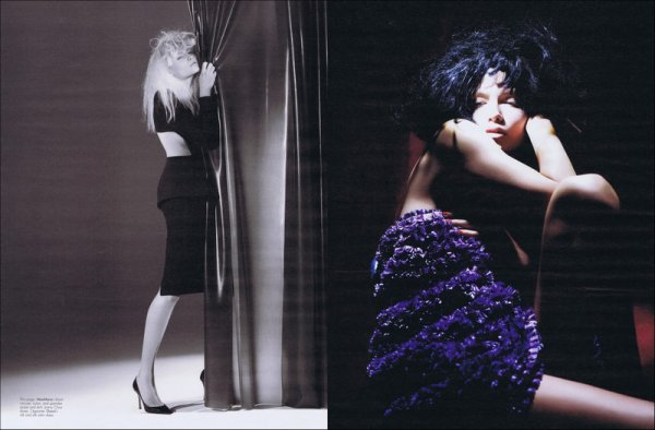 Editorial Making a Scene | MariaCarla Boscono & Natasha Poly | W | March 2011 | Shot by Willy Vanderperre