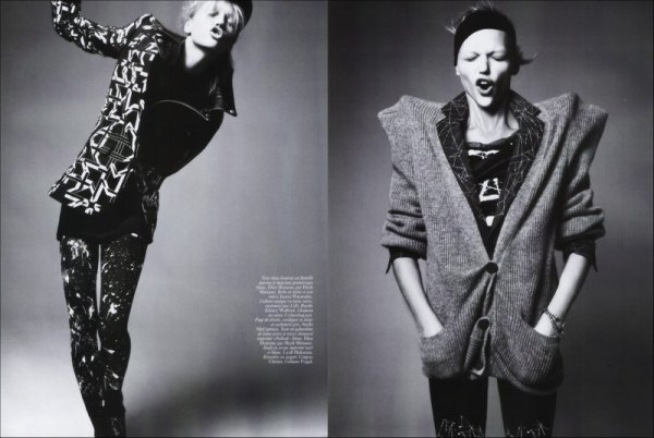 Editorial Femmes d'Envergure | Sasha Pivovarova | Vogue Paris | Septemer 2007 | Shot by David Sims