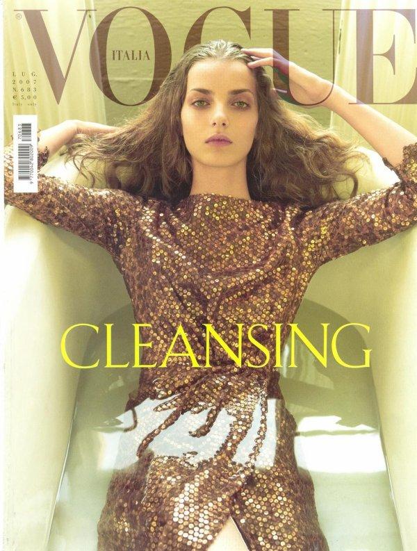 Cover Denisa Dvorakova for Vogue Italia | July 2007 | Shot by Steven Meisel