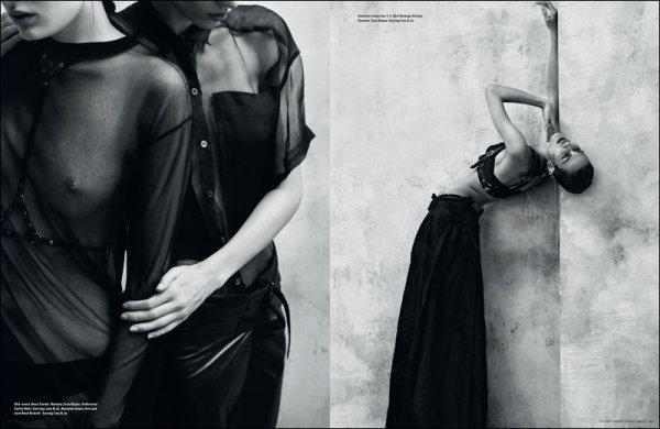Editorial Flaunt It | Alla Kostromichova & Aymeline Valade | i-D | Spring 2011 | Shot by Josh Olins