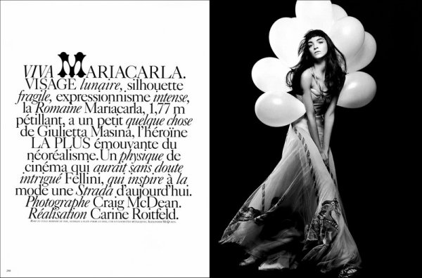 Editorial Viva MariaCarla | MariaCarla Boscono | Vogue Paris | March 2005 | Shot by Craig McDean