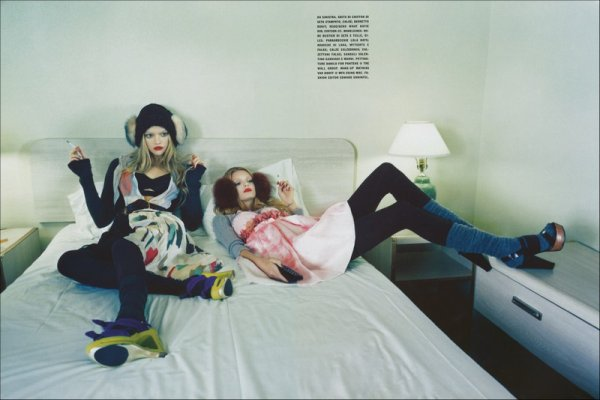 Editorial The Now Mix & Match | Gemma Ward & Lily Donaldson | Vogue Italia | May 2008 | Shot by Emma Summerton