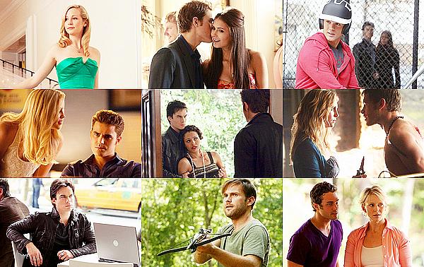 Retrouves à quels épisodes appartiennent ces photos promotionnelles (stills). Donner la saison et le numéro de l'épisode. Facultatif : Donnez le titre de l'épisode.