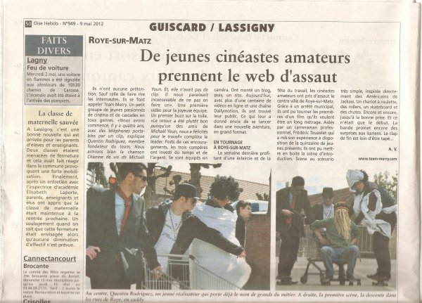 Dans le Journal => Oise Hebdo Site Internet____Facebook____Myspace____Twitter____Instagram____Livre d'Or