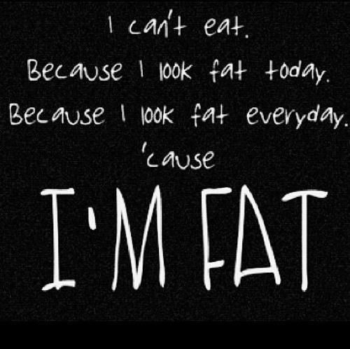 I'm fat, I'm bad!