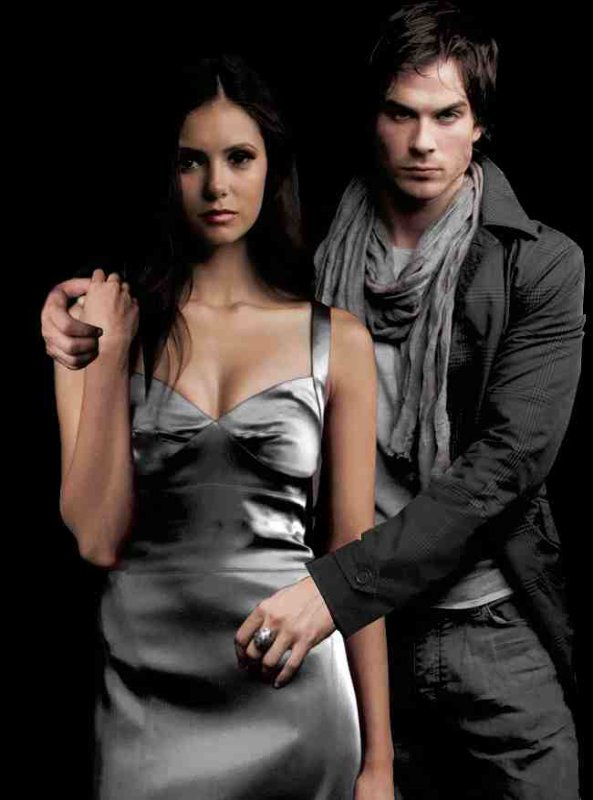 Personnages de Journal d'un vampire. Damon et Elena.