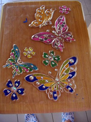 papillons peints...