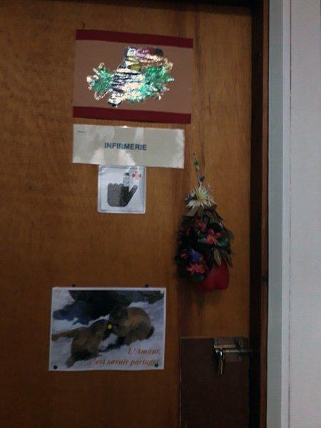 c'est la porte de mon infirmerie