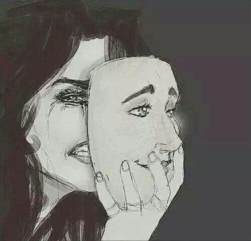 * Qui a dit que le sourire est symbole de la joie ? Qui a dit qu'une larme est symbole de tristesse ? Parfois, nous montrons notre grande joie avec une larme et nous montrons notre profonde tristesse avec un sourire. *