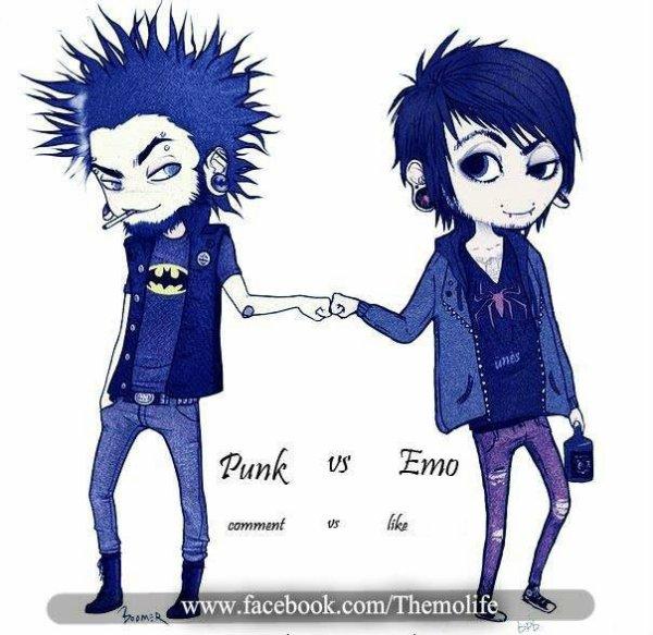 Commente pour PUNK et Like pour EMO :D ♥