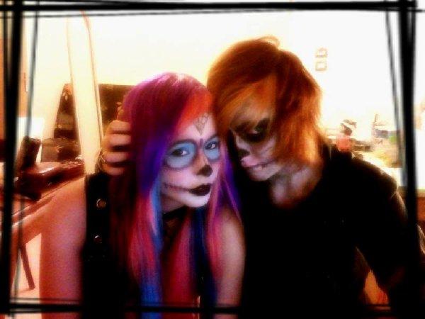 Ma chéwie et moi (moi avec cheveux cours ^^) <3