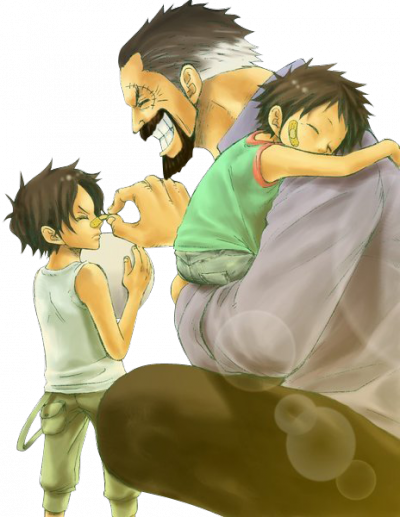 luffy et son grand père