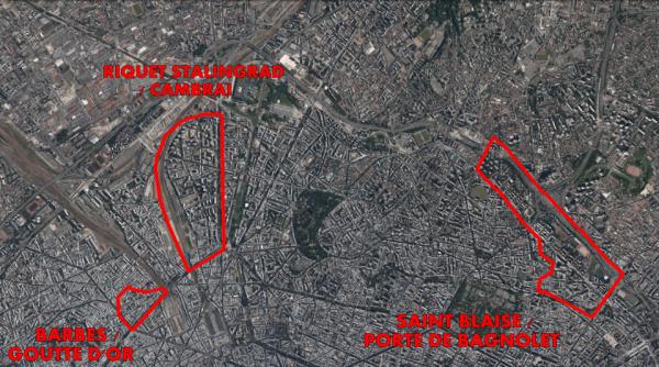 Carte des ZSP (Zone de Securité Prioritaire)