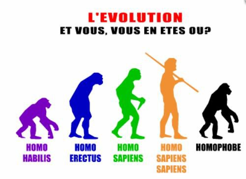 L'évolution de l'homme . . .