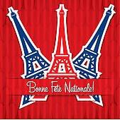 bonne fête national française le 14 juillet en france