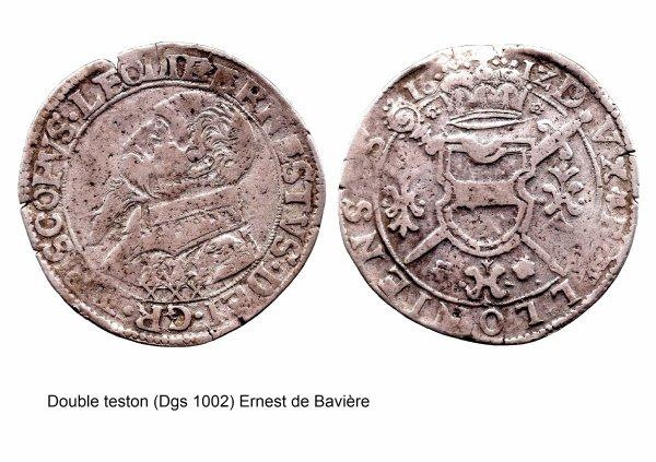 Ernest de Bavière (1581-1612) et le double-teston (Dgs 1002, Chestret 549) atelier de Bouillon