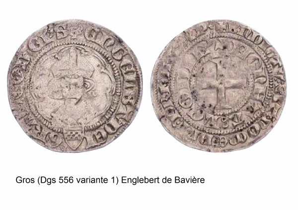 Englebert de la Marck (1344-1364) et le gros (Dgs 556, Chestret 242) atelier de Liège