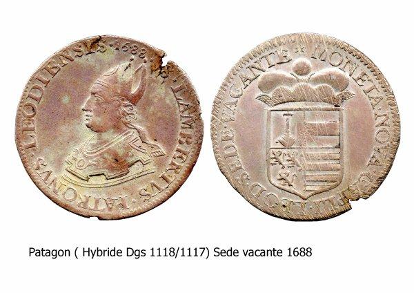 Sede vacante 1688 et le patagon (Dgs 1118, Chestret 649) atelier de Liège