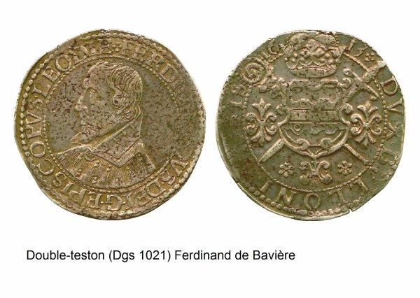 Ferdinand de Bavière (1612-1650) et le double-teston (Dgs 1021, Chestret 587) atelier de Bouillon