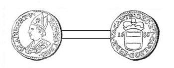 Sede vacante 1688 et le liard (Dgs 1119, Chestret 650) atelier de Liège