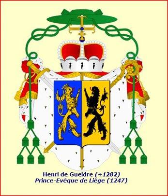 Henri de Gueldre (1247-1274) et l'obole (Dgs 487, Chestret 183) atelier de Liège