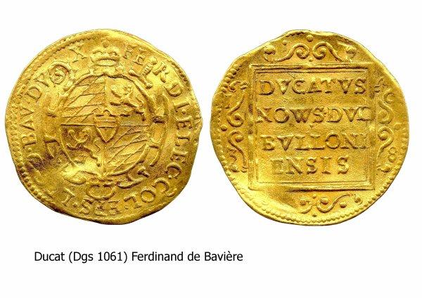 Ferdinand de Bavière (1612-1650) et le ducat (Dgs 1061, Chestret 584) atelier de Liège