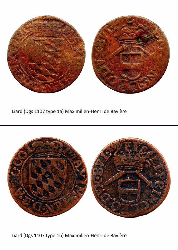 Maximilien-Henri de Bavière (1650-1688) et le liard (Dgs 1107, Chestret 644) atelier d'Hasselt