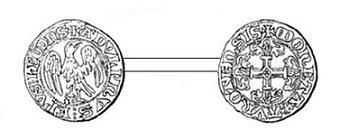 Adolphe de la Marck (1313-1344) et le tiers de volant (Dgs 541, Chestret 231) atelier d'Avroy