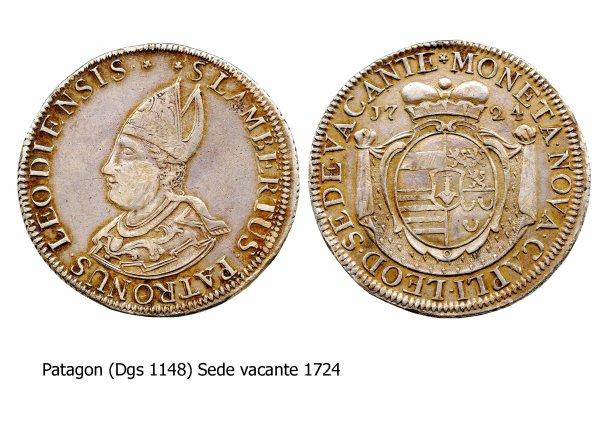 Sede vacante 1724 et le patagon (Dgs 1148, Chestret 671) atelier de Liège