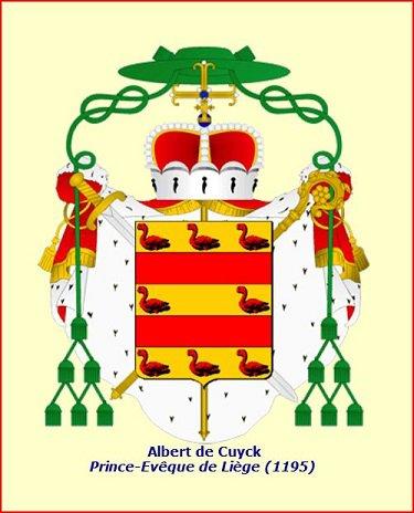 Albert de Cuyck (1194-1200) et le denier (Dgs 401, Chestret 144) atelier de Huy