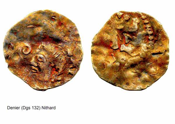 Nithard (1037-1042) et le denier (Dgs 132, Chestret 15) atelier de Visé