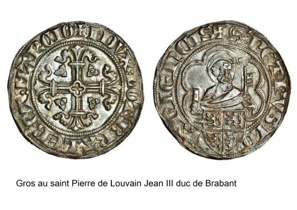Jean d'Arckel (1364-1378) et le gros au saint Pierre (Dgs 576, Chestret 258) atelier de Maastricht