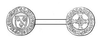 Louis de Bourbon (1456-1482) et le brûlé (Dgs 722, Chestret 367) atelier de Curange