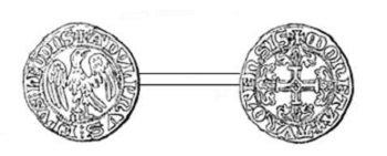 Adolphe de la Marck (1313-1344) et le tiers de volant (Dgs 548, Chestret 238) atelier de Huy