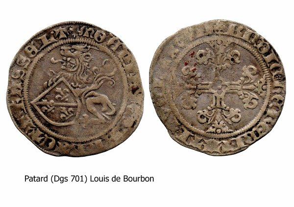 Louis de Bourbon (1456-1482) et le patard (Dgs 701, Chestret 351) atelier d'Hasselt