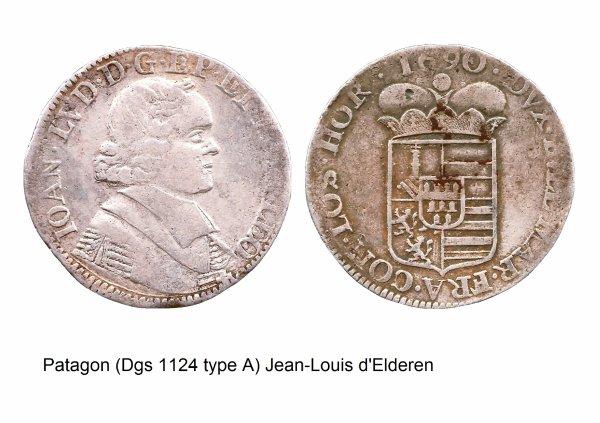 Jean-Louis d'Elderen (1688-1694) et le patagon (Dgs 1124, Chestret 654) atelier de Liège