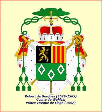 Robert de Berghes (1557-1564) et le daler (Dgs 914, Chestret 504) atelier d'Hasselt