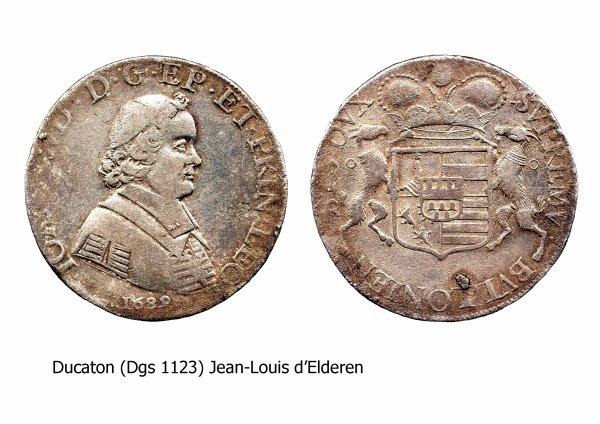Jean-Louis d'Elderen (1688-1694) et le ducaton (Dgs 1123, Chestret 653) atelier de Liège