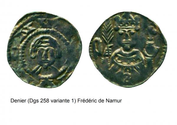 Frédéric de Namur (1119-1121) et le denier (Dgs 258) atelier de Maastricht