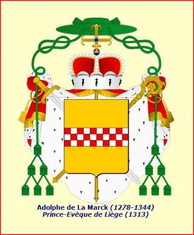 Adolphe de la Marck (1313-1344) et le volant (Dgs 540, Chestret 230) atelier d'Avroy